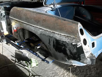 ... MGB Rear wing ... & Mike Rolls Services for MGs - Restoration