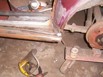 MG Magnette front stripped
