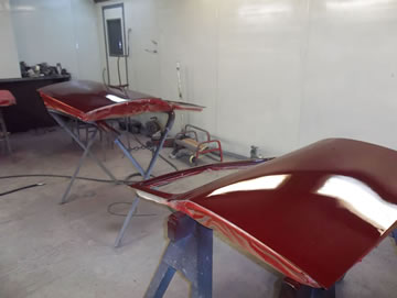 MG Magnette doors painted